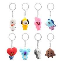 цена на Kpop Bts-Bangtan Boys Keychain Band Member Personalized Cute Cartoon Keychains For Women Men Jewelry Key Chain Bag Car Pendant