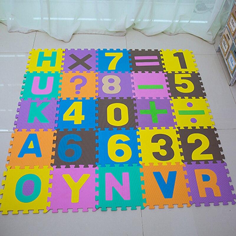 30x30 см, пенопласт, Английский алфавит, с цифрами, игровой коврик для малышей, детская игрушка-головоломка, Йога, буквы, ползающий, комбинирова...