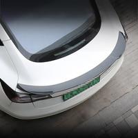 Car Rear Wing Tail Spoiler Trim Strip Sticker Carbon Fiber Cover Modified Exterior Decoration for Tesla Model 3 Accessories