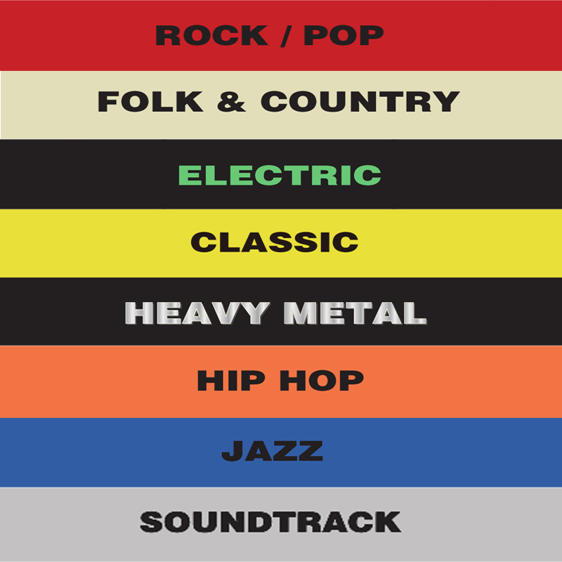 Жанровый записной Органайзер с разделителями таб акриловые карты для проигрывателя хранения записных альбомов Организации - Цвет: 8PCS Music Style