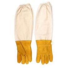 1х Пчеловодство перчатки XL 28 см пчеловод свиная кожа перчатки защитные рукава рукавицы вентилируемые анти пчела