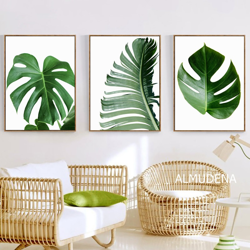 Tropical Leaf Posters And Prints Monstera Banana Palm Leaf Canvas Painting Botanical Green Leaves Pictures Home Wall Art Decor Buy At The Price Of 2 72 In Aliexpress Com Imall Com Most popular and beautiful canvas wall art in our store. tropical leaf posters and prints