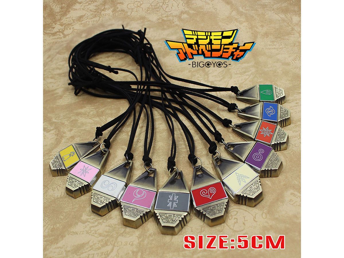Digimon Adventure Digital Monster Courage/Friendship/Love/Hope Evolution Badge Magnetic Pendant Necklace Rope Collection Gift(China)