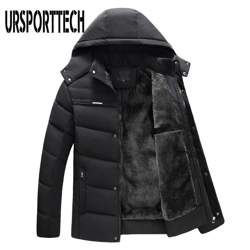 Winter Jacket Men Parka 2019 New Fashion Thicken Hooded Waterproof Outwear Warm Coat Fathers' Clothing Casual Men's Overcoat 4XL