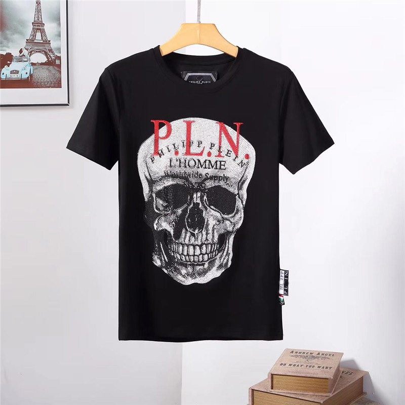 2019 Cheap Price Skull Pattern Qplein T Shirts 100% Top Design Cotton Tees Summer New Arrival