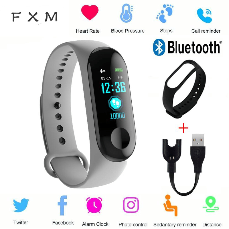 The Mens' Watches M3 Smart Bracelet Heart Rate Blood Pressure Health Waterproof Smart Watch Bluetooth Watch Wristband Fitness