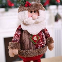 Christmas Decoratios For Home Dolls Xmas Tree Decor New Year Ornament Reindeer Snowman Santa Claus Standing Doll New Year Gift 4