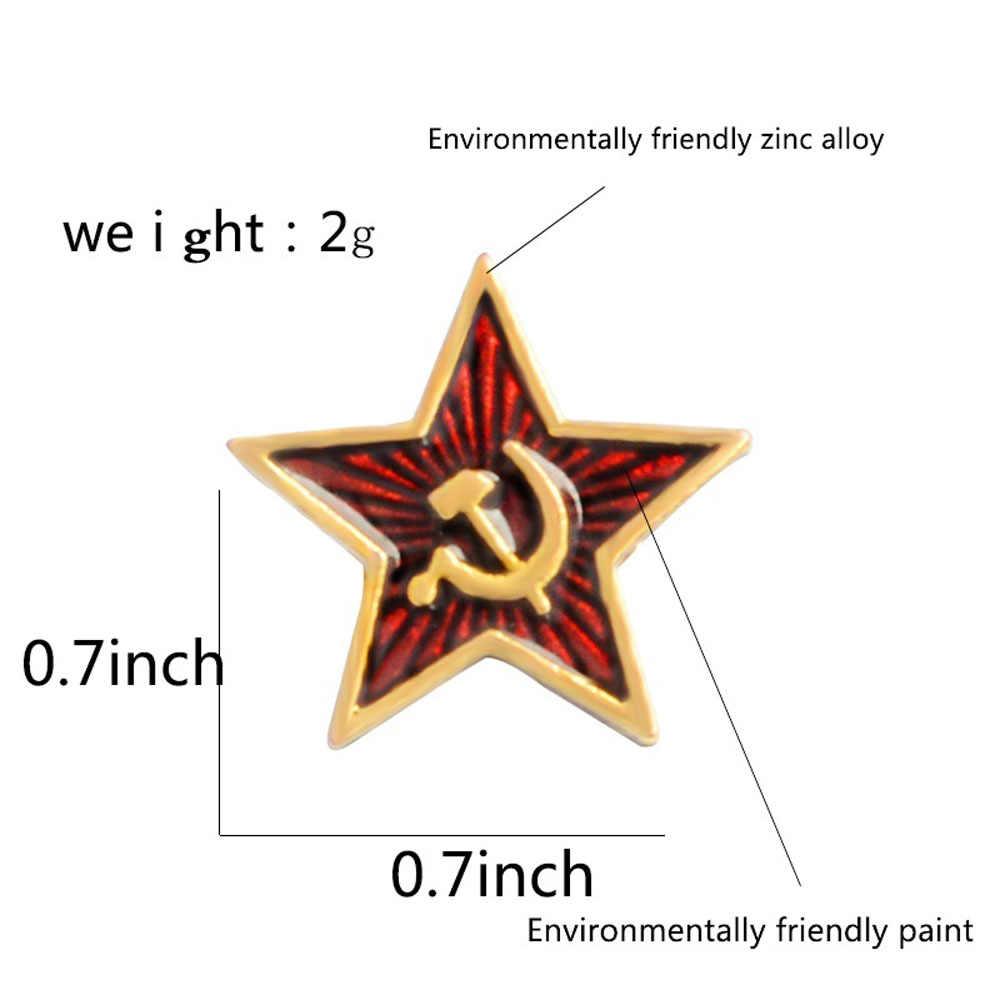 Estrela vermelha martelo foice comunismo emblema união soviética símbolo da urss pino guerra fria patriotismo lapela pino vestuário chapéu casaco acessórios