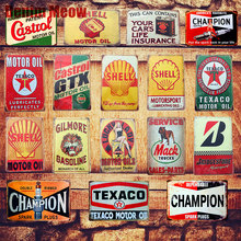 Motor Oil Plaque Vintage Metal Tin Signs Home Bar Pub Garage Gas Station Decorative Iron Plates Wall Stickers Art Poster N198(China)