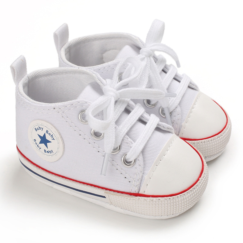 Canvas Baby Shoes Sports Sneakers Newborn Baby Boys Girls First Walkers Shoes Infant Toddler Soft Sole Anti-slip Baby Shoes