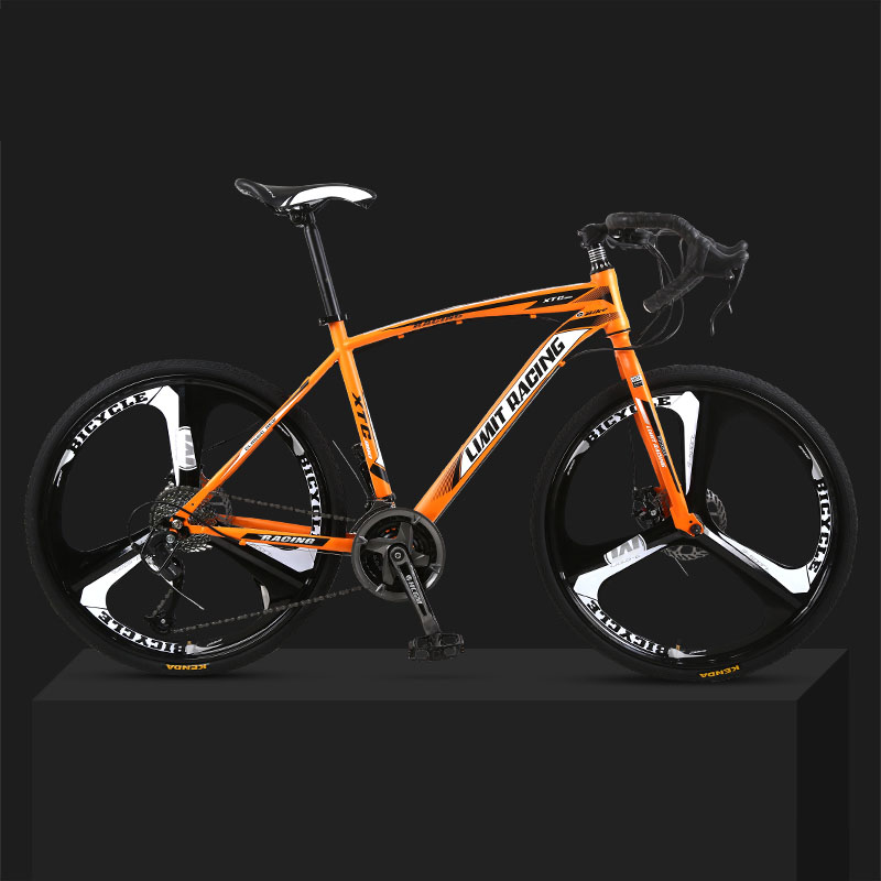 26-inch 27 Speed Road Bicycle Dead-Flying Front And Rear Mechanical Disc Brake Three-blade Wheel Solid Tire Student Adult