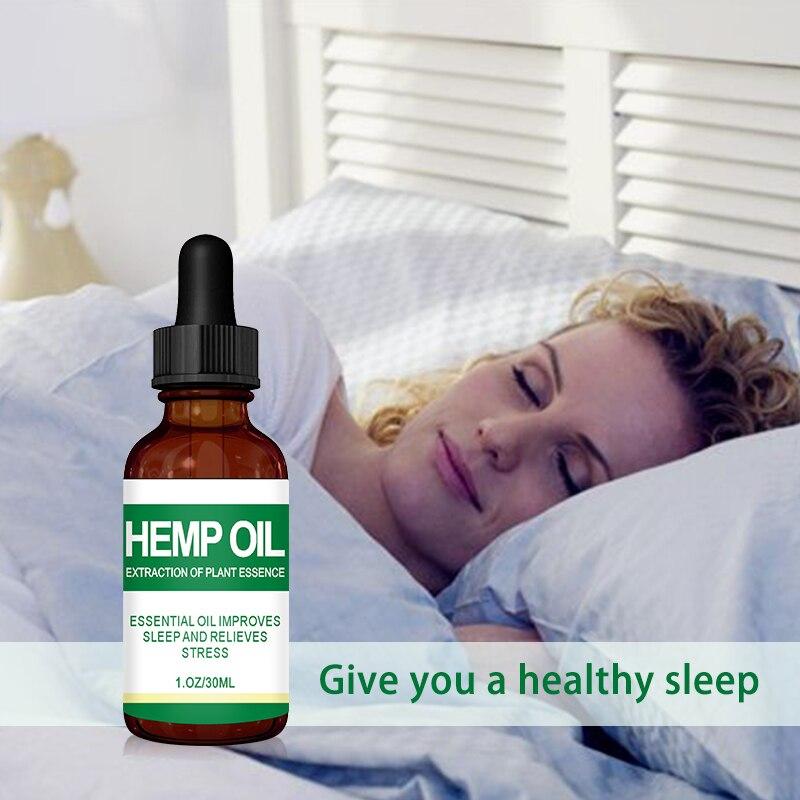 Hemp OIL Aromatherapy Relieve Muscle Soreness Pain Stress Help Sleep Skin Care Natural Herbal Moisturizing Massage Essential Oil