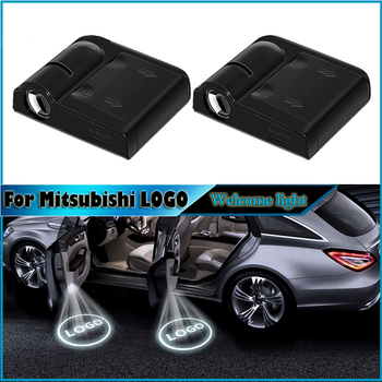 2pcs Car Accessories Wireless magnetic Car Door welcome LED laser Projector Light Shadow Ghost Courtesy lamp For Mitsubishi tv rear projector lamp 915p026010 dj for mitsubishi
