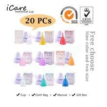 20 pièces confort en gros réutilisable de qualité médicale Silicone coupe menstruelle produit dhygiène féminine dame Menstruation Copo BMC01NV