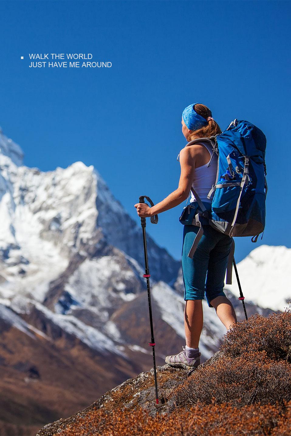 bloqueio externo pólos trekking caminhadas montanhismo bengala portátil NH19S010-T
