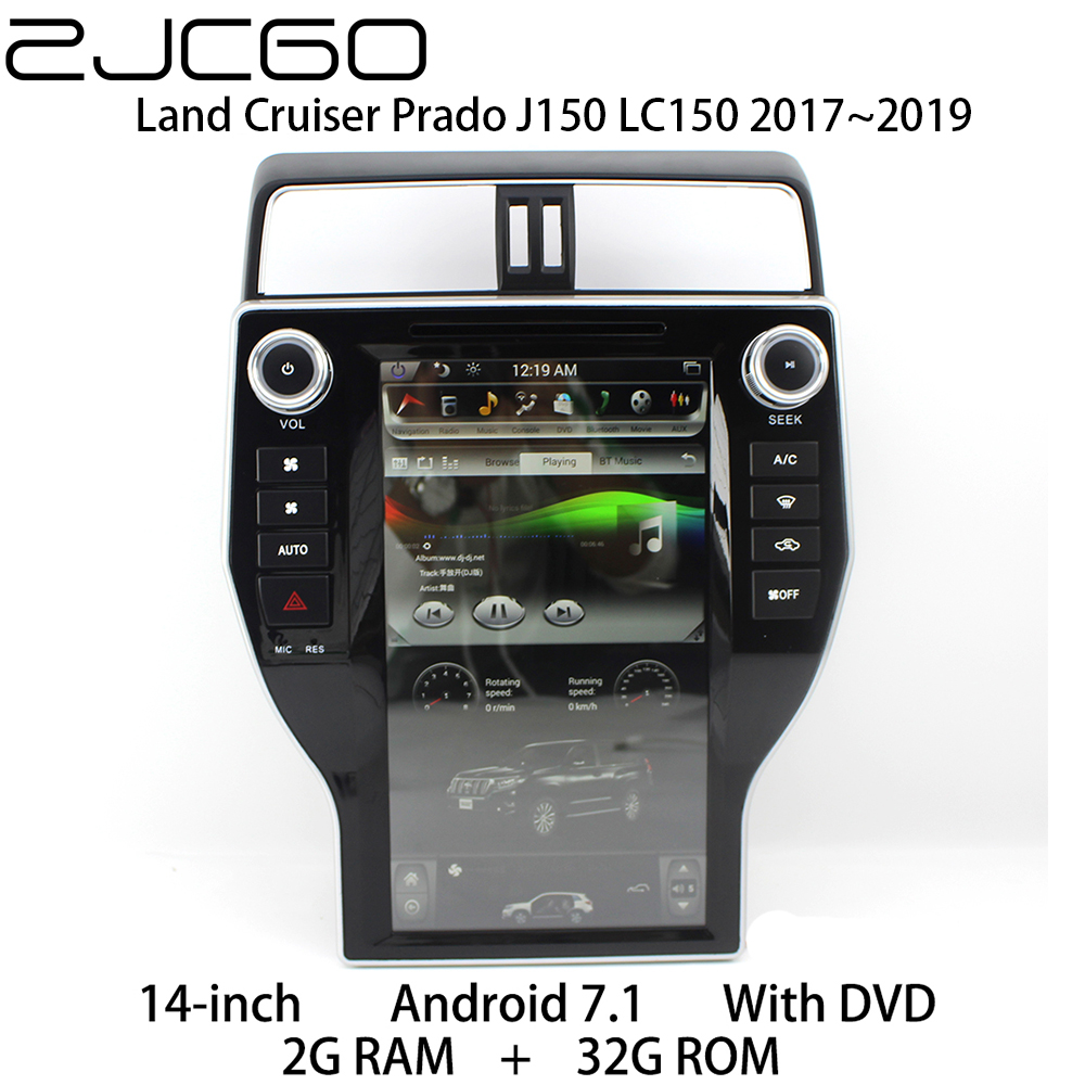 Car Multimedia Player Stereo GPS DVD <font><b>Radio</b></font> Navigation Android Screen for <font><b>Toyota</b></font> Land Cruiser Prado <font><b>150</b></font> J150 LC150 2017 <font><b>2018</b></font> 2019 image