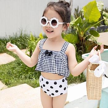Dziecięce Bikini dziewczęce stroje kąpielowe stroje kąpielowe stroje kąpielowe kostiumy kąpielowe kostium kąpielowy letnie stroje kąpielowe dziecko Biqunis tanie i dobre opinie NoEnName_Null Pasuje prawda na wymiar weź swój normalny rozmiar Plaid 1008 Wysokiej talii Poliester