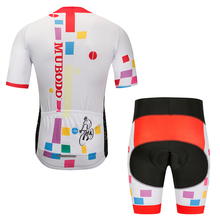 2019 men white Quick-Dry Team Cycling Jersey Set MTB Road Bicycle cycling Clothing Breathable Mountain Bike Clothes Cycling Set quick dry cycling jersey sets breathable sponge pad anti sweat mtb dh road mountain bicycle bike men cycling sets