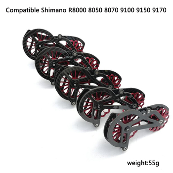 17T Bike Carbon ceramic speed Rear Derailleur Pulley OSPW For shimano R9100 R8000 8050 8070 9150 9170 serie coated
