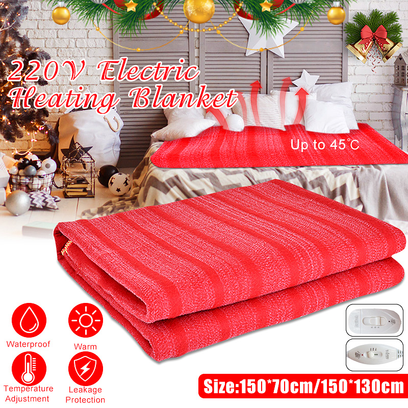 150cmx70cm/150cmx130cm Winter Electric Blanket Heater 220V Single Body Warmer Heated Blanket Thermostat Electric Heating Blanket