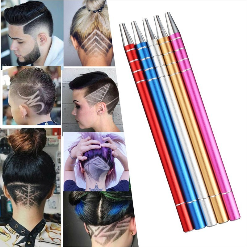 1Pcs Hair Scissors Engraved Pen with 10Pcs Blades Hair Styling Hair Trimmers Eyebrows Shaving Salon DIY Hairstyle Fashion