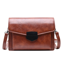Fashion Europe And The United States Shoulder Bag Pu Leather Trend Small Square Bag High Quality Casual Ladies Messenger Bag 2018leather handbag fashion leather round bad bag chain shoulder scrub europe and the united states oblique messenger ladies bag