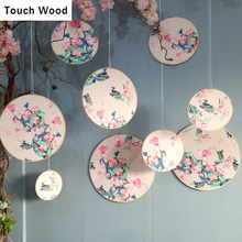 Handmade Accessory Decoration Nature Bamboo Cases Jewelry Earring Display Decor Flower