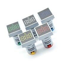 22 мм ac 12 500 в вольтметр квадратная панель светодиодный цифровой