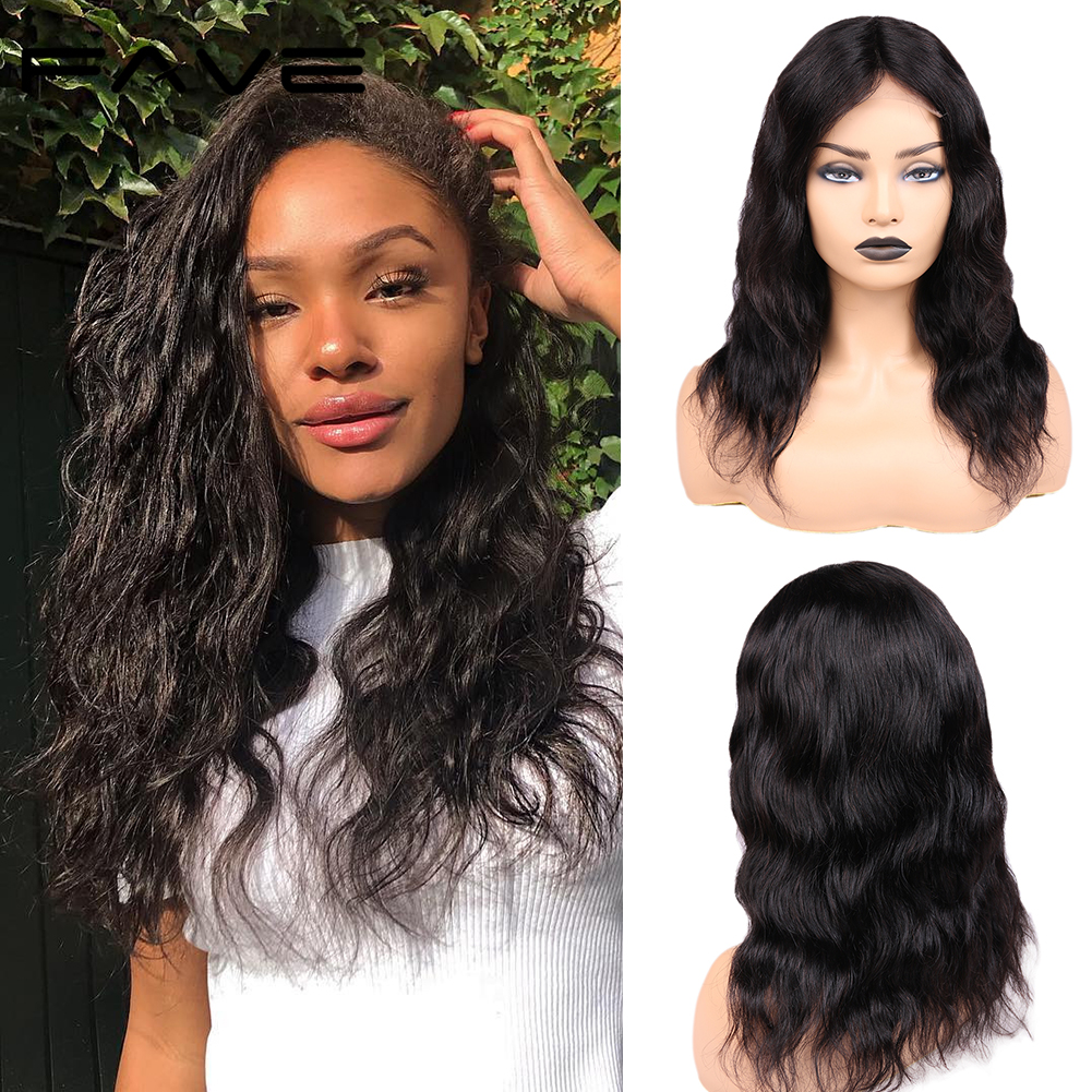 FAVE Brazilian Lace Front Human Hair Wigs 4*4 Lace Closure Natural Wave Wigs 150% Pre Plucked Natural Hairline For Black Women