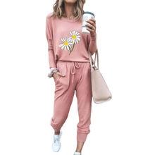 Женский топ костюм со шнуровкой и брюками свободная эластичная
