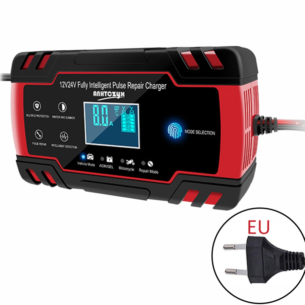 <font><b>Car</b></font> AGM <font><b>Charger</b></font> 12/24V 3-stage LCD Touch Screen <font><b>Pulse</b></font> Motorcycle Lead Acid <font><b>Battery</b></font> <font><b>Repair</b></font> Type AGM Gel Wet <font><b>Car</b></font> <font><b>Charger</b></font> image