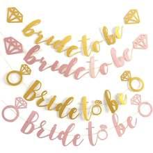 Блестящее розовое золото бриллиантовое кольцо для невесты баннерное