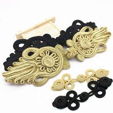 Knot-Button-Fastener Sewing-Button Chinese Closure Bags Decoration Black Gold Frog