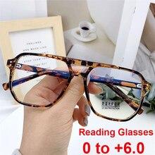 2021 neue Mode Vintage Übergroßen Lesebrille Unisex Anti Blau Rays Leoaprd Platz Brillen Antifatigue Computer Brillen