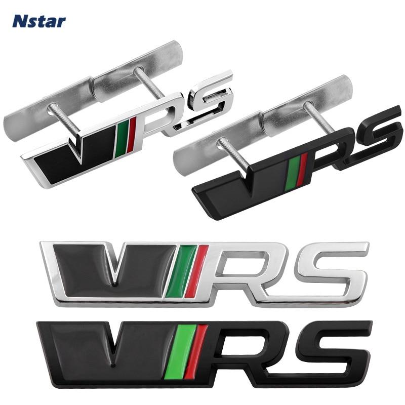 Nstar 1pc VRS רכב קדמי גריל גריל סגסוגת סמל אוטומטי סטיילינג אתחול תא מטען זנב תג מדבקת לסקודה Citigo favorit סקאלה 047