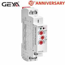 Free Shipping GEYA GRV8-02 Voltage Protection Relay AC220V DC12V DC48V ACDC240V Over-voltage and Under-voltage Protection free shipping geya grv8 01 adjustable over voltage or under voltage relay 12v 48v 110v 220v 240v voltage control relay