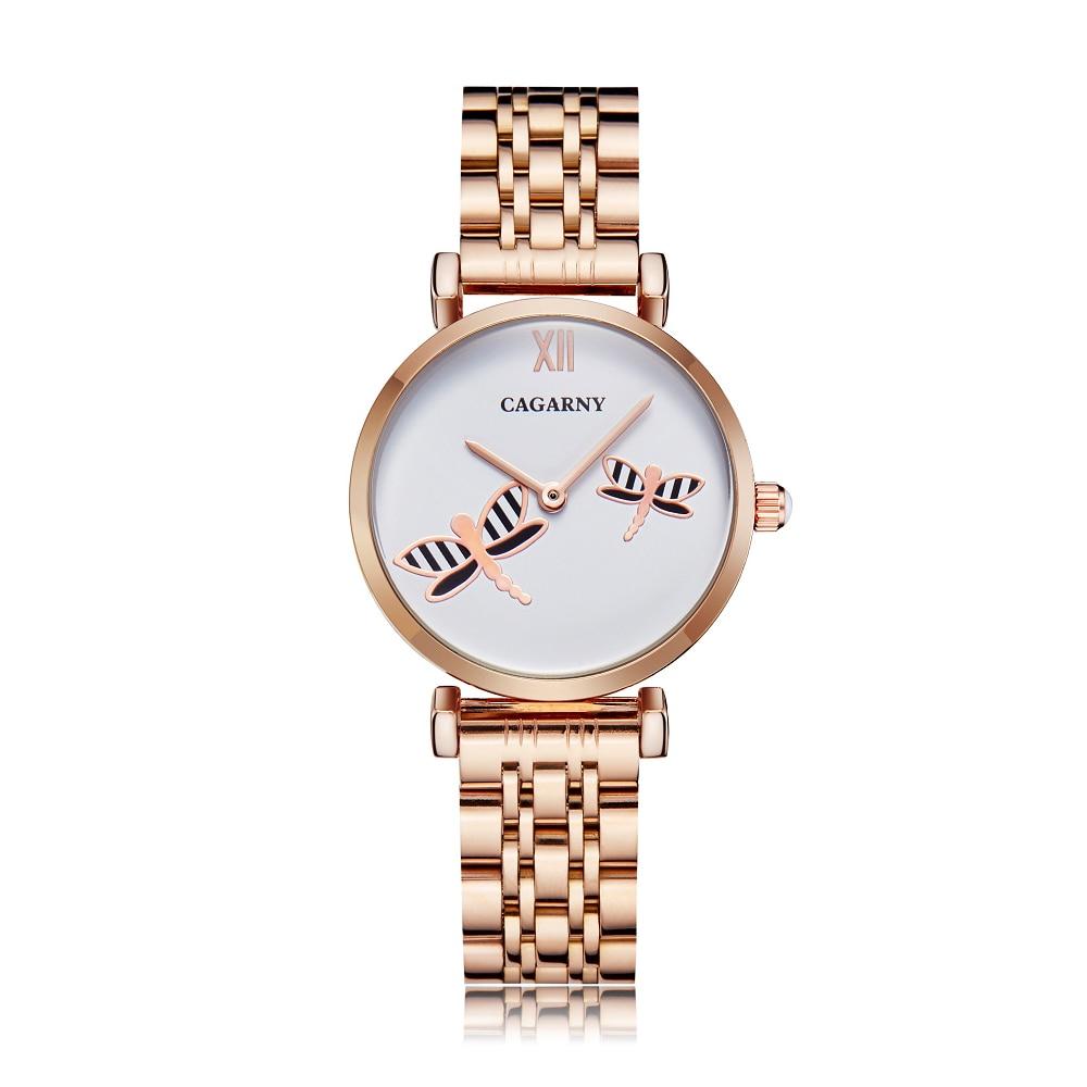 H3648de24a2c14407bd5078bcfc35cb5fY Silver Rose Gold Stainless Steel Bracelet Watch For  Women