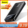 Baseus 20000mAh Power Bank Tragbare Ladegerät Power 10000 Externe Batterie PD 20W Schnelle Lade Für iPhone 12 Xiaomi poverBank