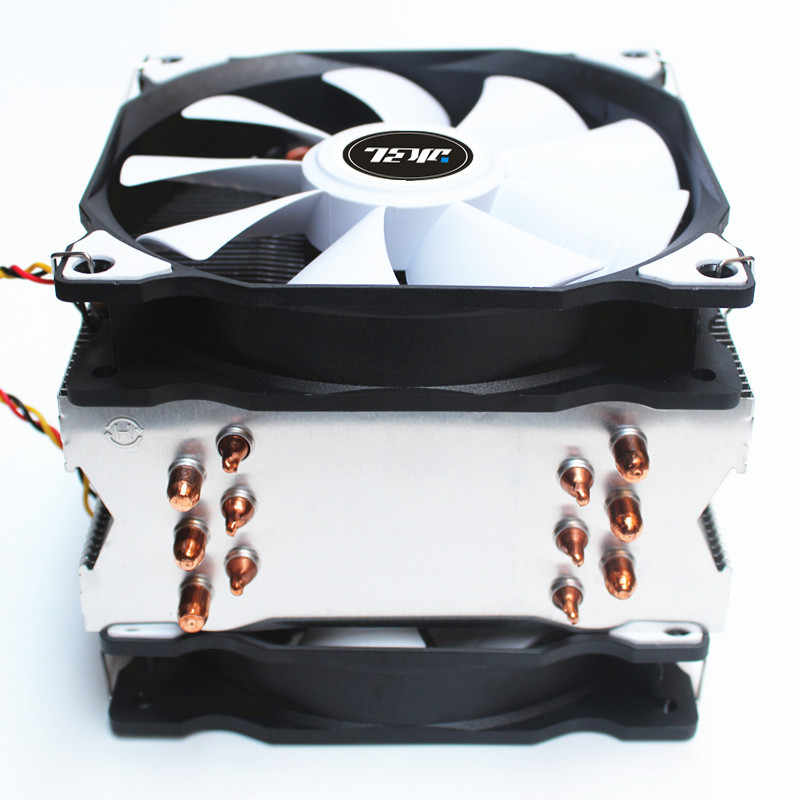 BINGHONG chłodnica procesora 6 ciepła rury 120mm 4 Pin PWM dla Intel LGA 1150 1155 1366 775 AMD AM4 AM3 AM2 2011 wentylator chłodzący CPU PC cichy
