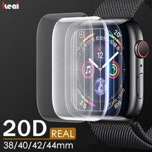 Protetor de tela 20d para apple watch, filme de hidrogel para iwatch 38mm 40mm 42mm 44mm filme não vidro, mm 40mm 42mm 44mm