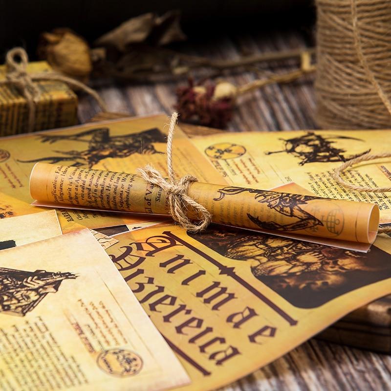 8pcs Vintage English Letters Vellum Paper Pack Scrapbooking Happy Card Making