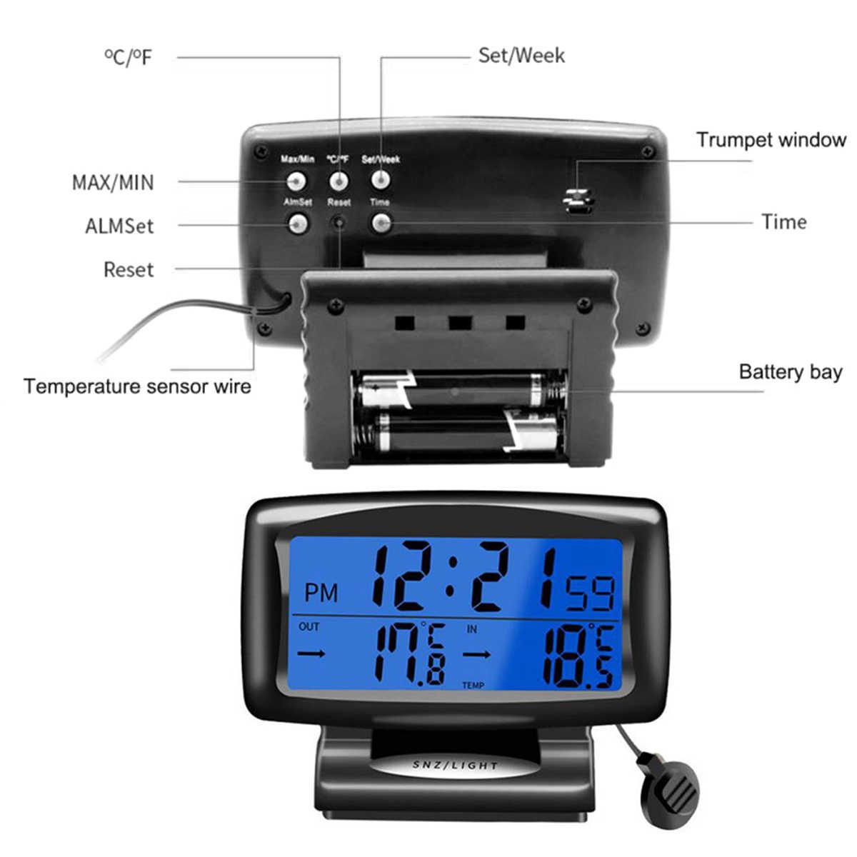 220V PT-6 Thermometer 50℃~+110℃ LED Digital Display Temperature Meter Aquarium
