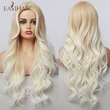 EASIHAIR-pelucas onduladas sintéticas degradadas para mujer, pelo largo, Rubio claro, pelo Natural, resistente al calor