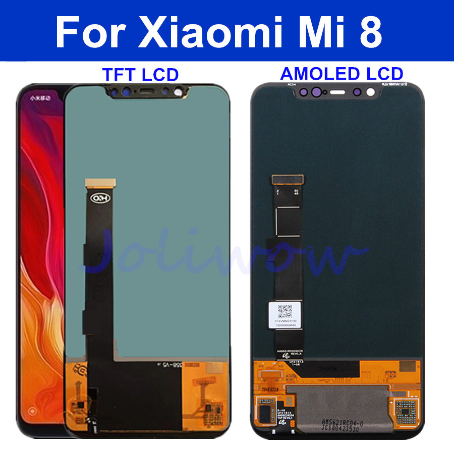 AMOLED OLED TFT 3 Model For Xiaomi Mi 8 Mi8 LCD Display Touch Screen Digitizer LCD Assembly For Xiaomi Mi8 lcd Digitizer 6.2