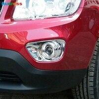 ジープコンパス 2011 2012 2013 2014 ABS クロームフロントフォグライトランプカバートリム Foglight ベゼル車カバー 2 個