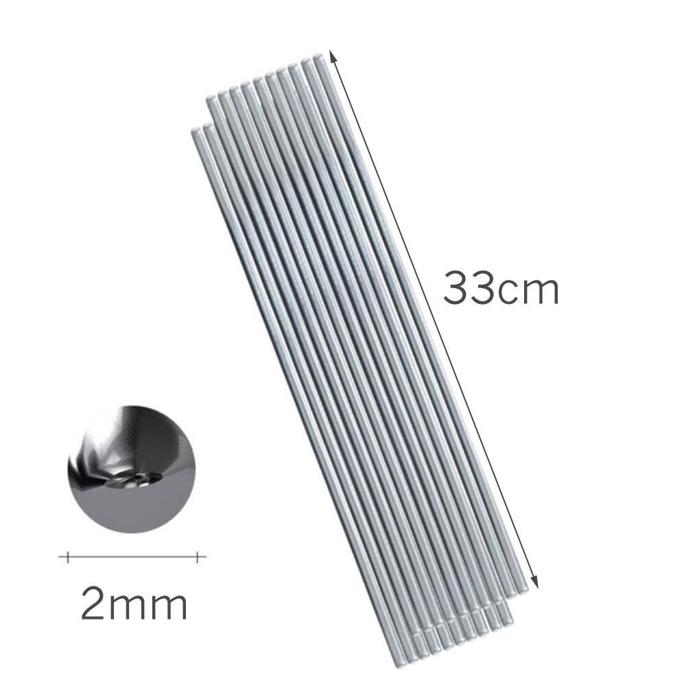 10pcs Repairing Welding Rods 33cm 22cm 2mm 1mm Aluminum Welding Electrodes Flux Cored Low Temperature Brazing Wire Air Condition