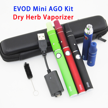 Dry Herb Vaporizer Herbal Evod Mini Ago Zipper Case Single Starter Kit with eGo 1100 mAh Ecigarette Hookah Vaper Battery G5 Tank image