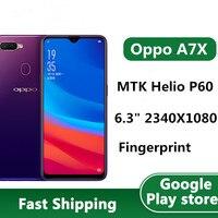 "99% New Oppo A7X 4G LTE Mobile Phone Helio P60 Octa Core Android 8.1 6.3"" 2340X1080 4GB RAM 128GB ROM 16.0MP Fingerprint OTA 1"