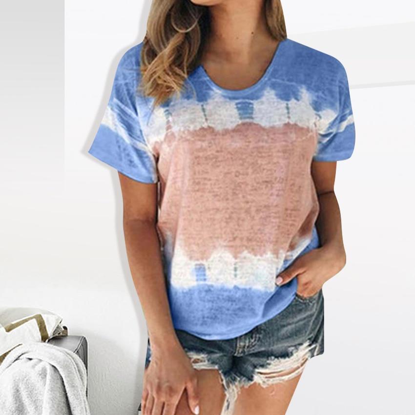 Women T-shirt Multicolour O-Neck Print Tops Tee 2020 New Nation Plus Size Short Sleeve Women Tshirt 5XL Women Cloth Summer Tees