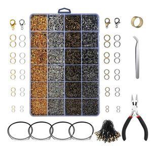 24 Сетки, аксессуары для ювелирных изделий, инструменты, комбинированное кольцо, открытая Закрытая застежка, пряжка с омаром для DIY, ожерелье,...
